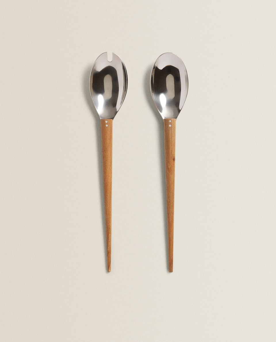 SERVERS WITH WOODEN HANDLES (SET OF 2)