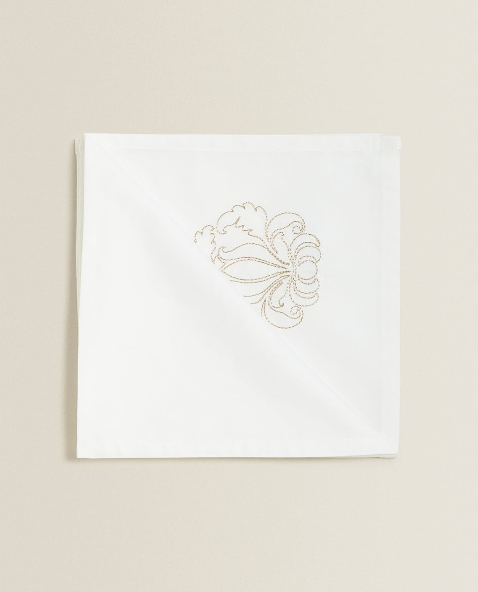 EMBROIDERED COTTON NAPKIN (PACK OF 4)