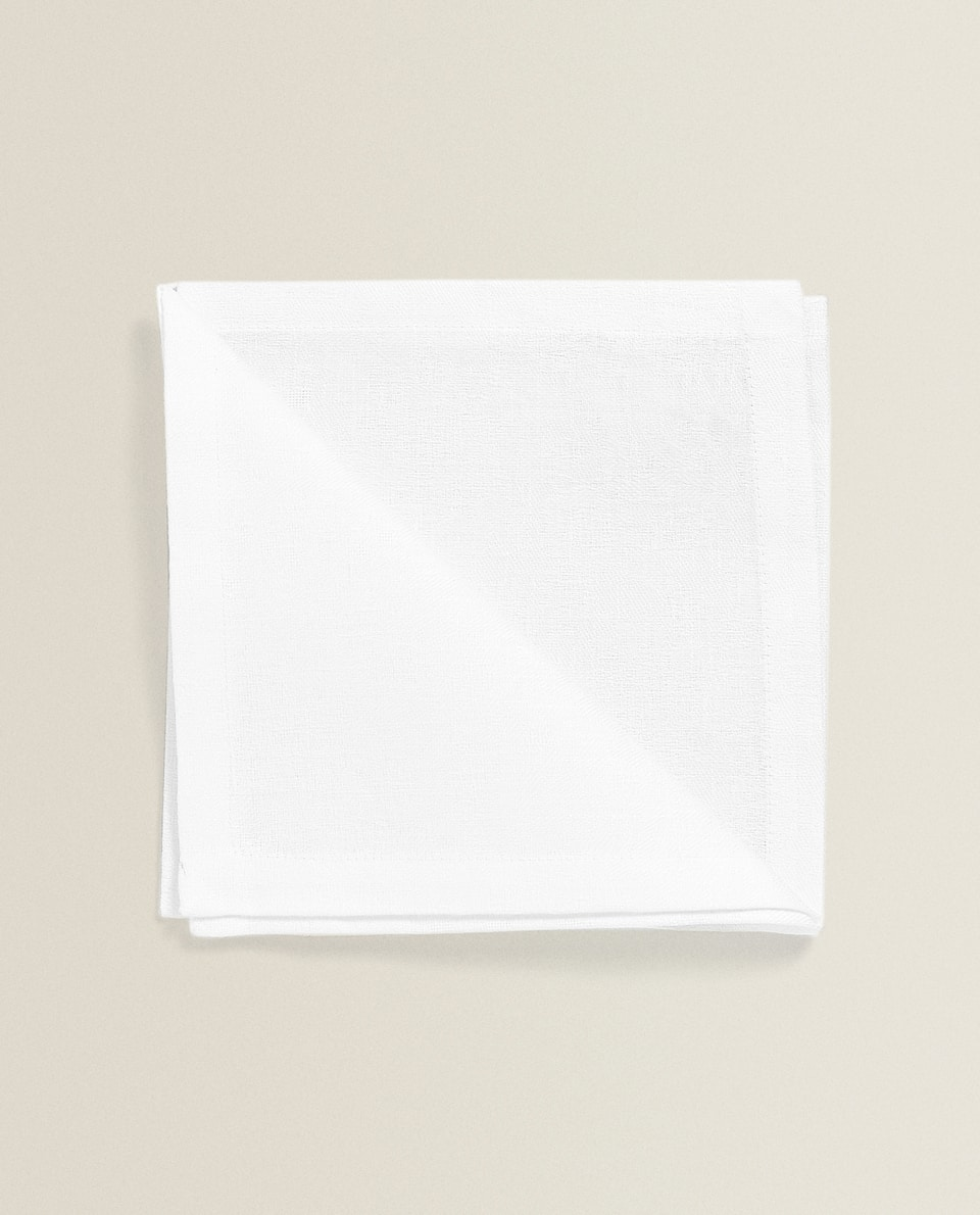 SERVIETTES DE TABLE LIN ET COTON (LOT DE 4)