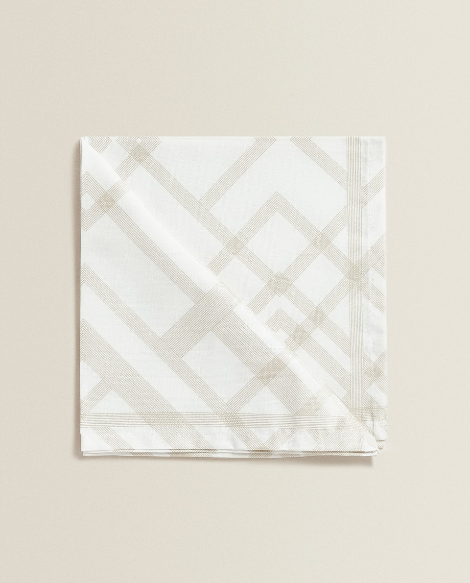 GEOMETRIC PRINT COTTON NAPKIN (SET OF 2)