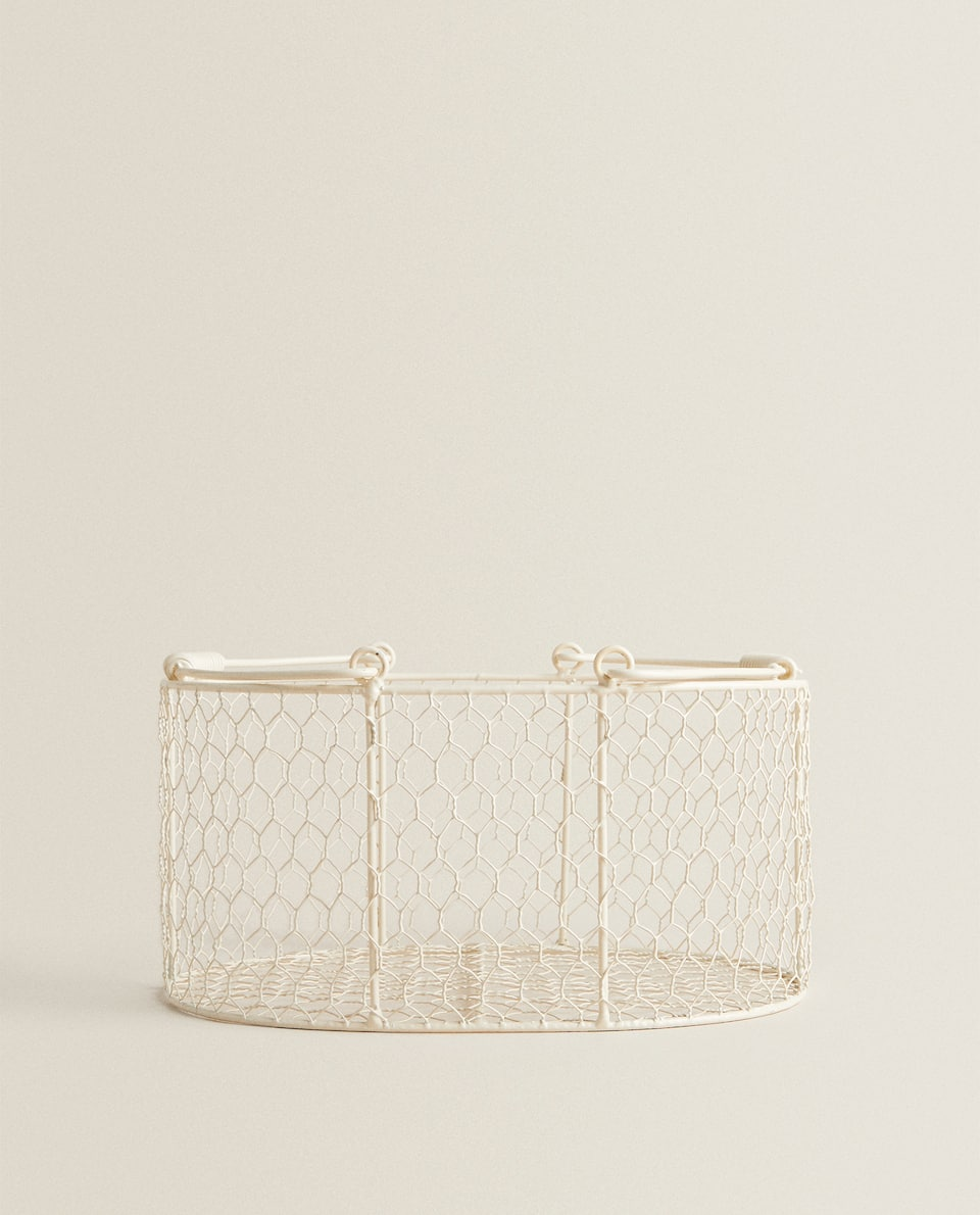 METAL MESH STORAGE BASKET