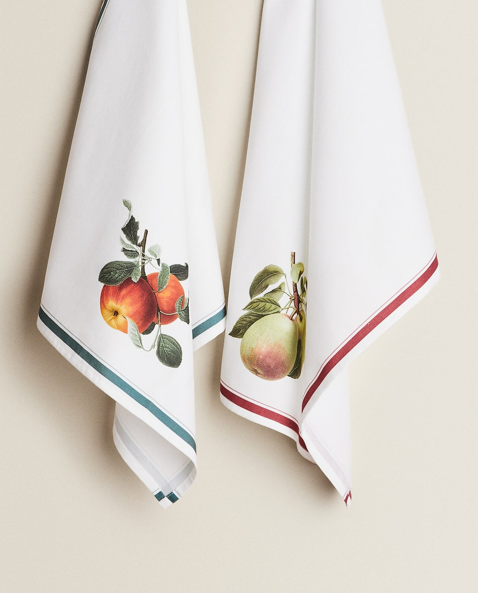 FRUIT PRINT TEA TOWEL (PACK OF 2)