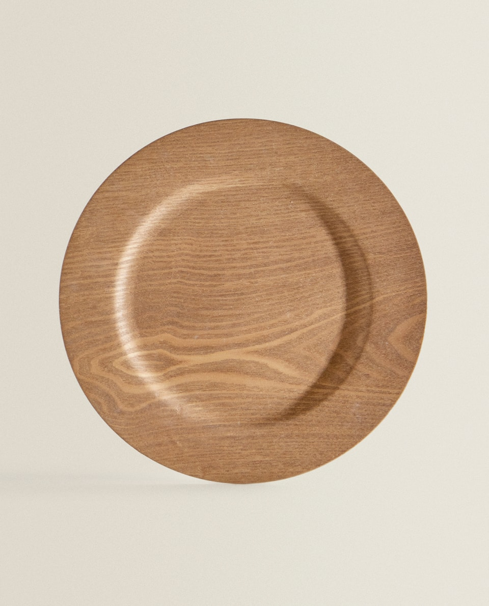 WOOD-EFFECT CHARGER PLATE