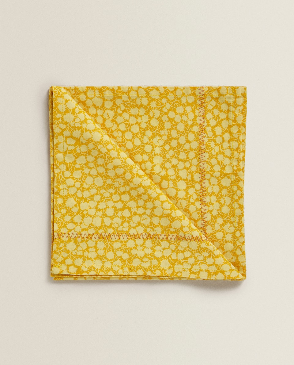 MINI FLORAL PRINT COTTON NAPKIN (PACK OF 2)