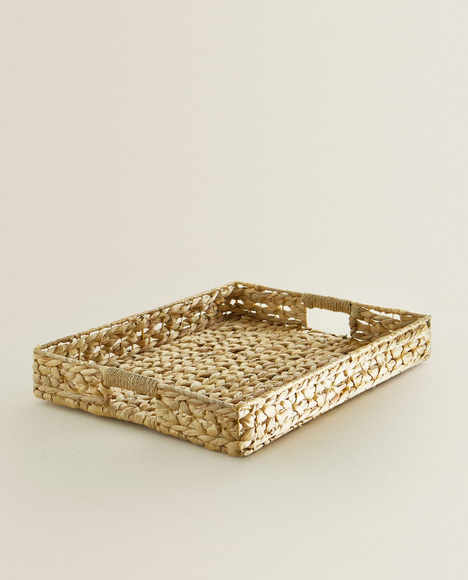 RECTANGULAR BASKET WITH HANDLES