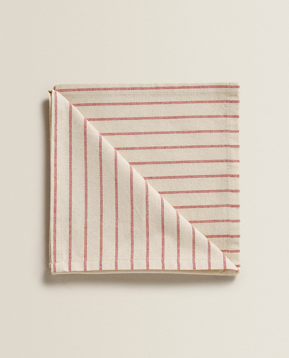 STRIPED COTTON NAPKIN (SET OF 2)