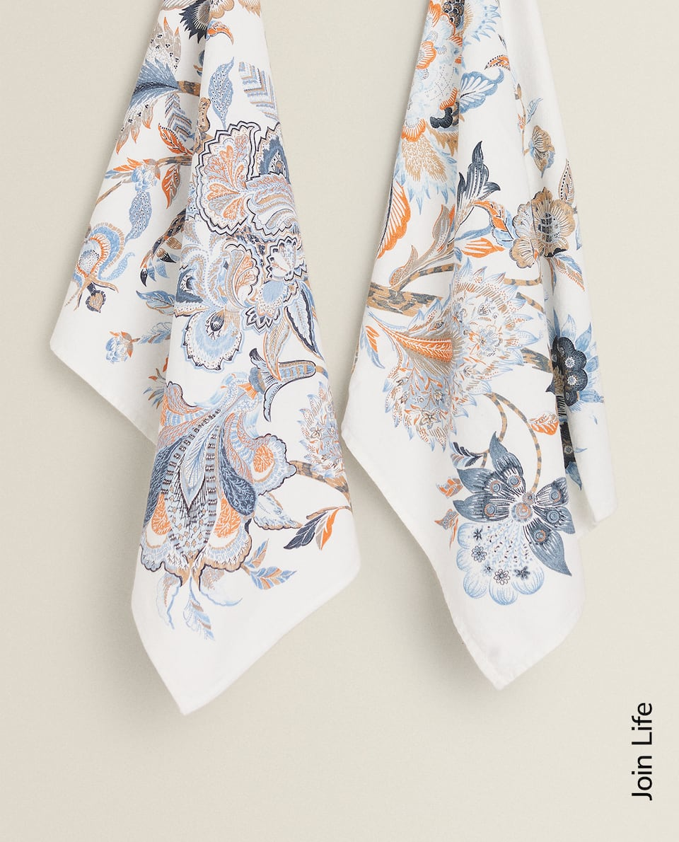 FLORAL PRINT TEA TOWEL (PACK OF 2)