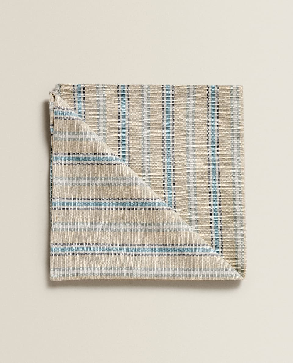 SERVIETTE DE TABLE EN LIN À RAYURES (LOT DE 2)