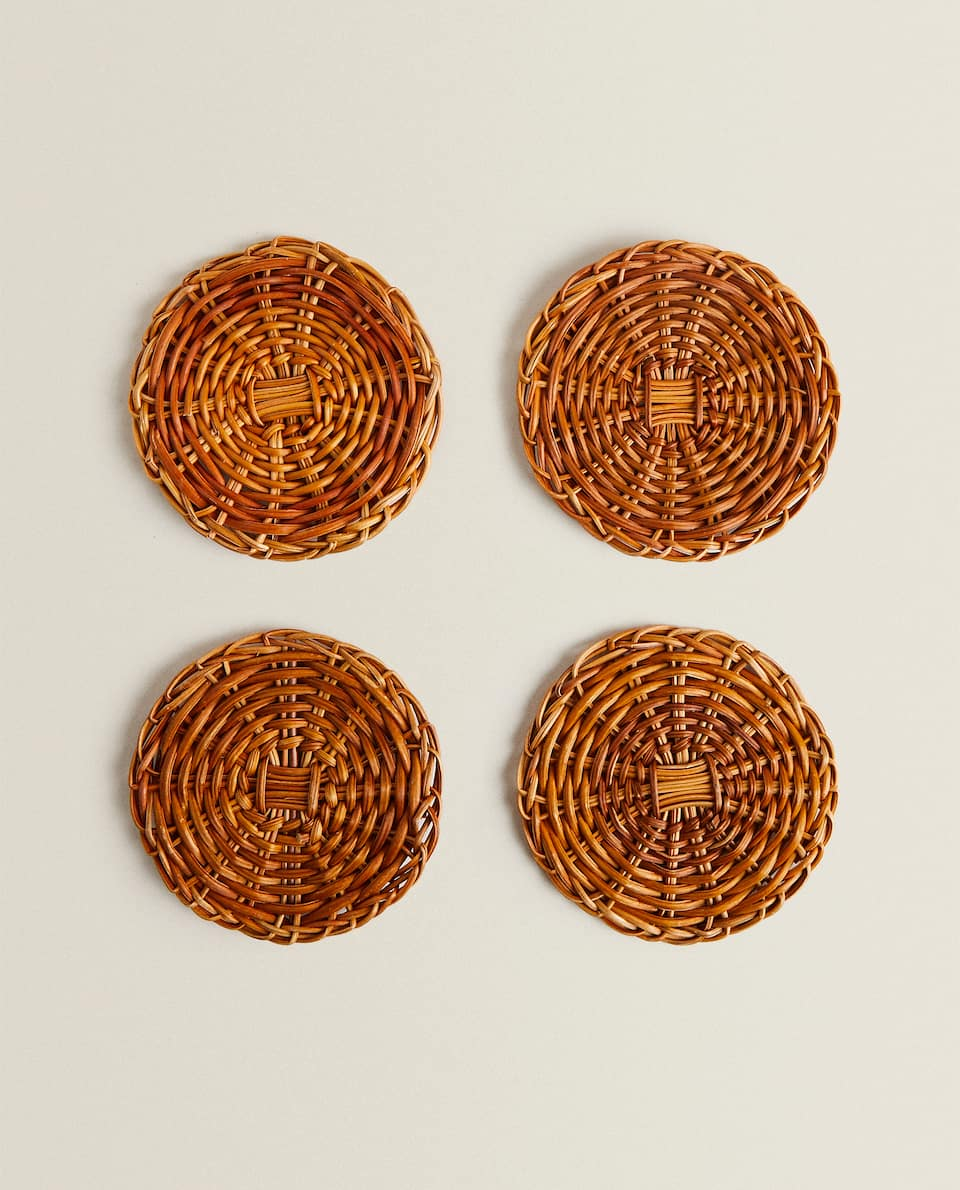 NATURAL FIBRE COASTER (PACK OF 4)