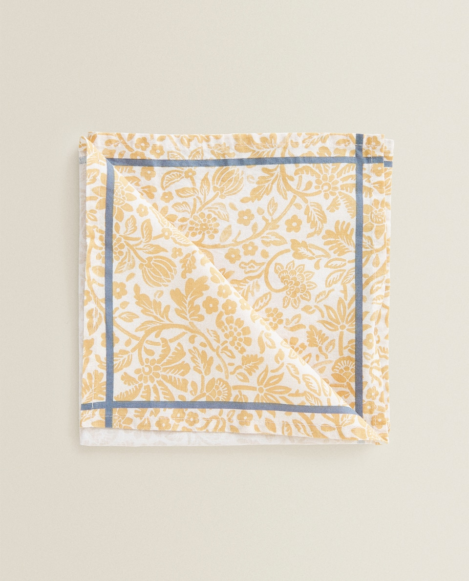 SERVIETTE DE TABLE COTON BRANCHES (LOT DE 2)