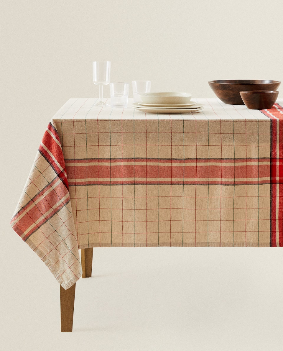 CHECK COTTON TABLECLOTH
