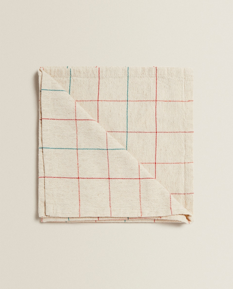CHECK COTTON NAPKINS (PACK OF 2)
