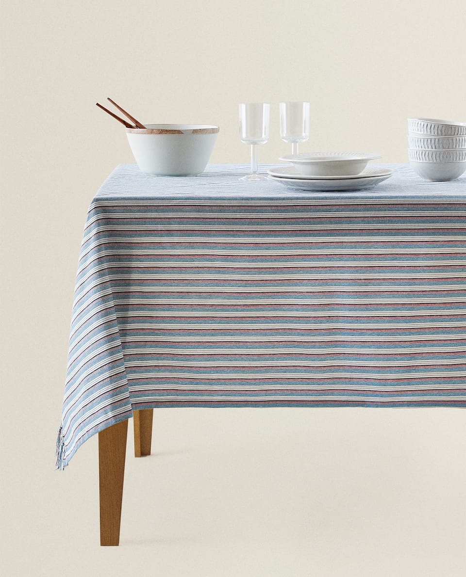 MULTI-STRIPE TABLECLOTH