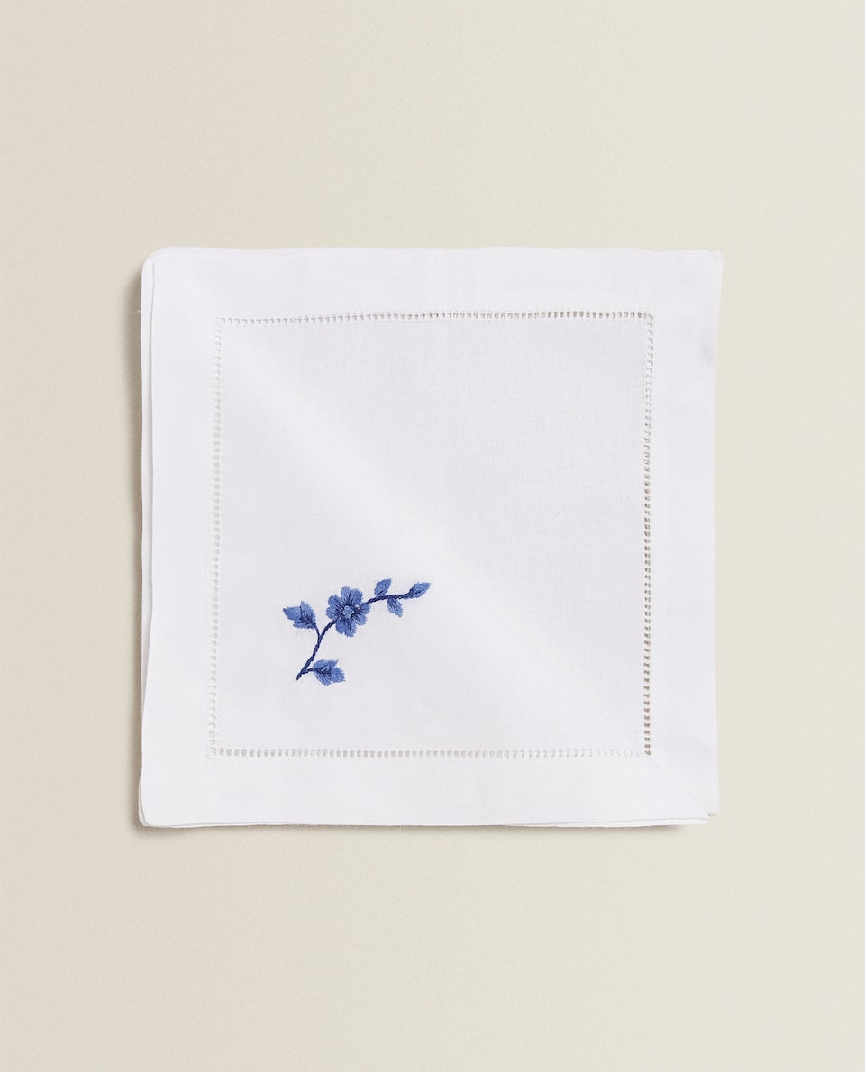 EMBROIDERED BRANCH NAPKIN (PACK OF 2)
