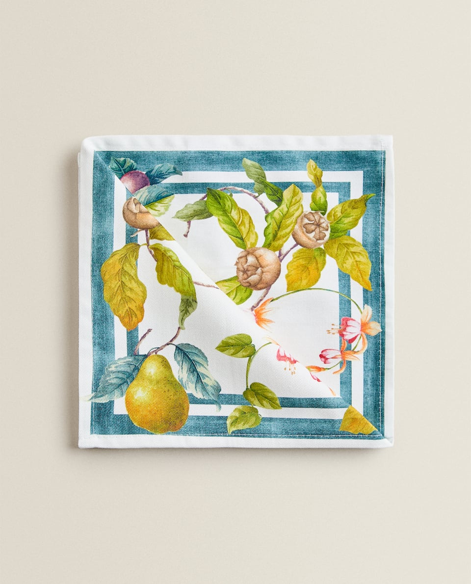 APPLE PRINT NAPKIN (PACK OF 2)
