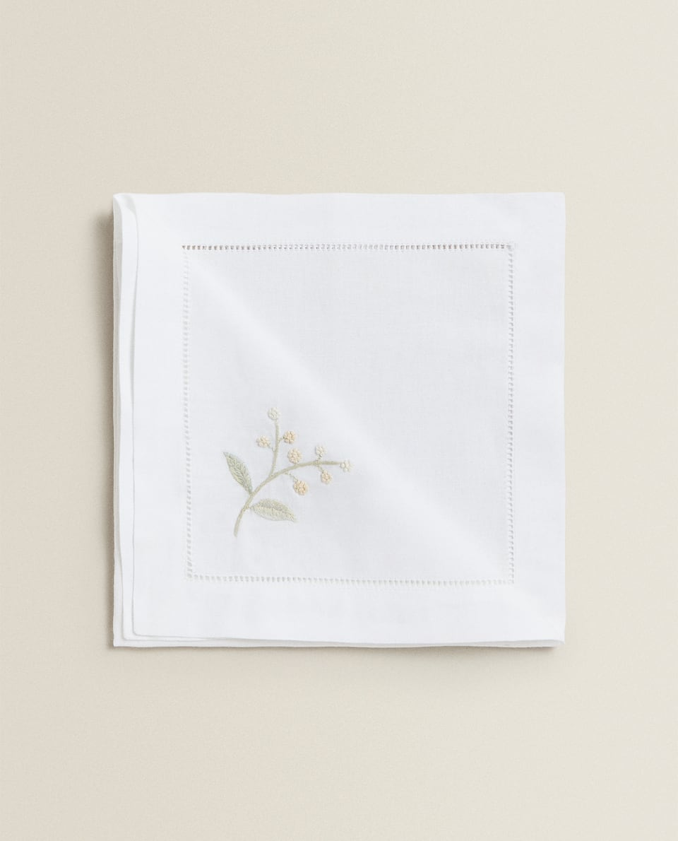SERVIETTES DE TABLE MIMOSA (LOT DE 2)