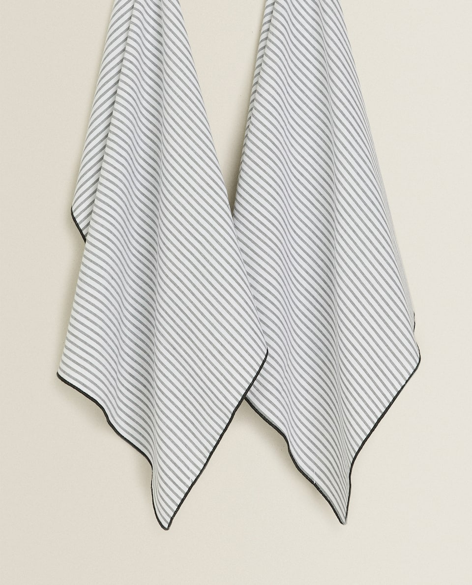 STRIPED COTTON TEA TOWEL (PACK OF 2)