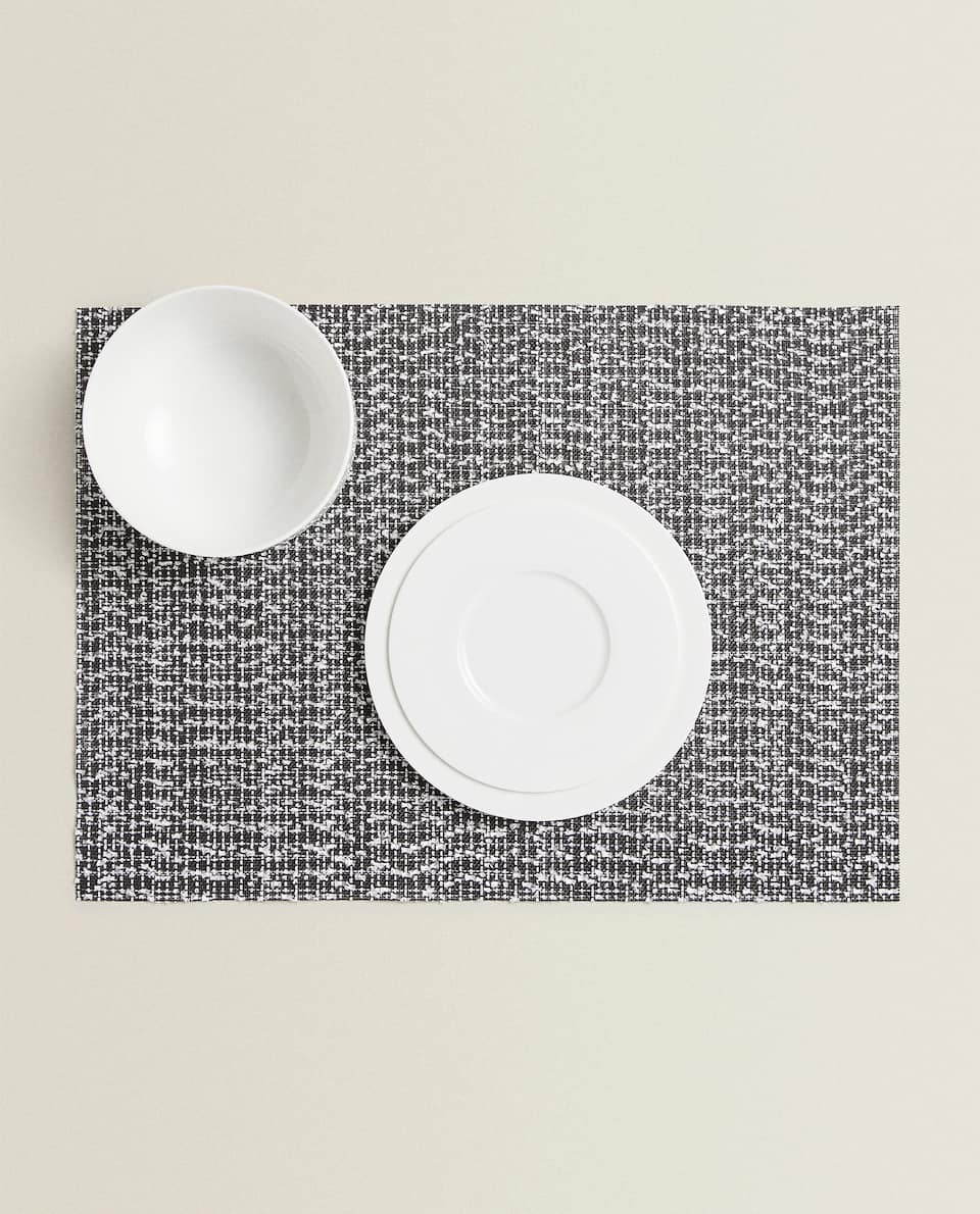 SET DE TABLE COTON RELIEF (LOT DE 2)