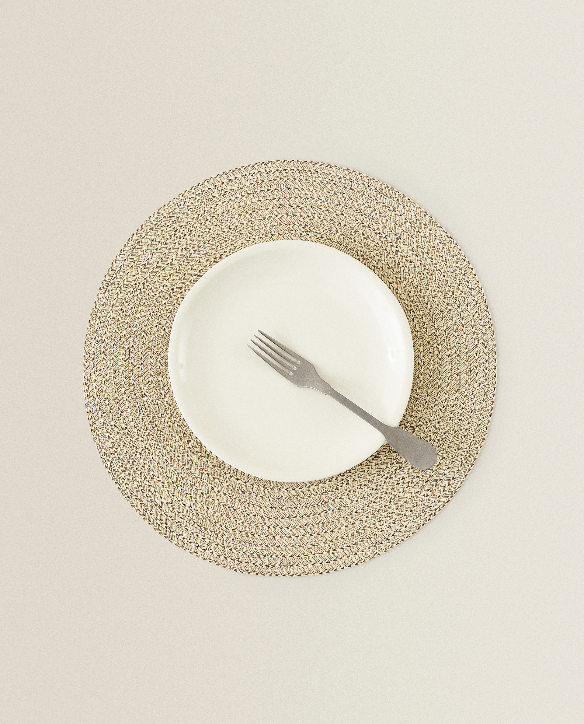 Round Woven Placemat Pack Of 2