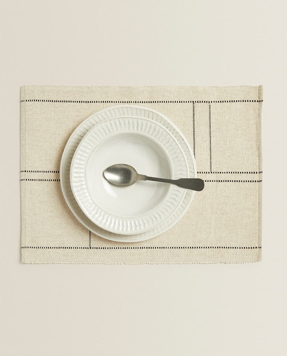 RECTANGULAR COTTON PLACEMAT (PACK OF 2)