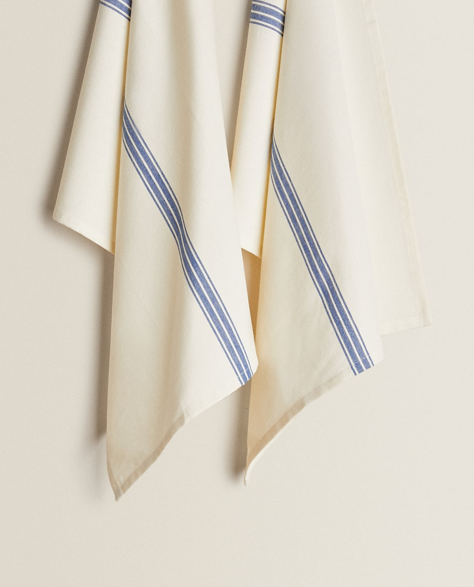 DYED THREAD TEA TOWEL (PACK OF 2)