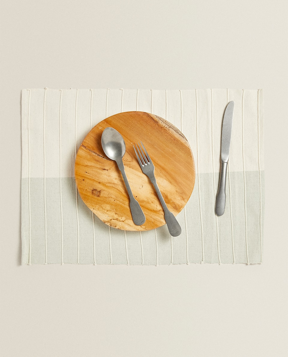TEXTURED COTTON PLACEMAT (PACK OF 2)