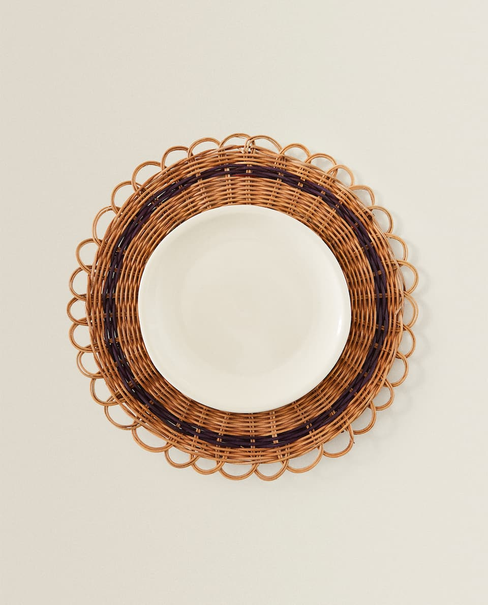 SET DE TABLE ROND EN ROTIN