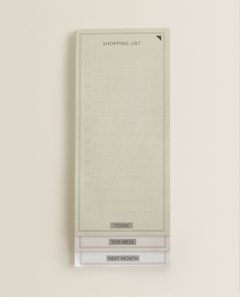 SHOPPING LIST MEMO PAD