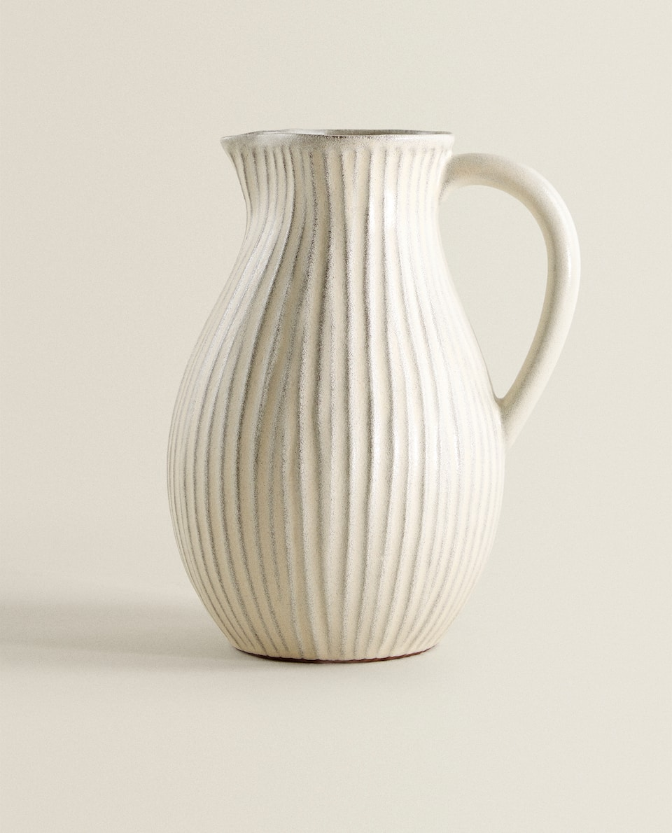 TEXTURED TERRACOTTA PITCHER