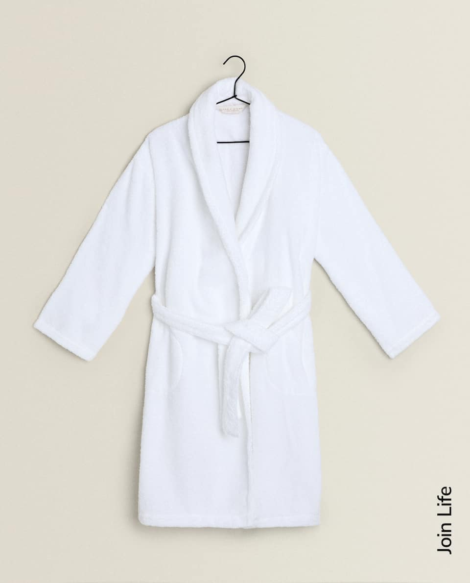 ECOLOGICALLY GROWN COTTON DRESSING GOWN