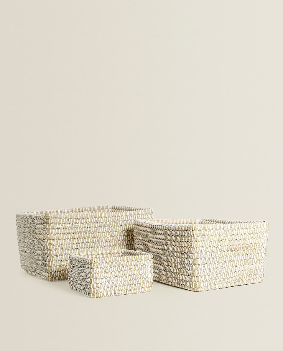 CONTRAST RECTANGULAR BASKET