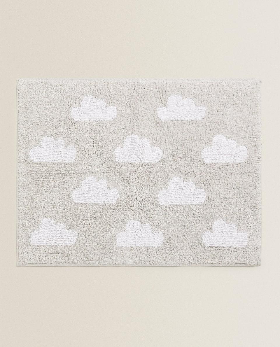 سجادة حمام بتصميم الغيوم