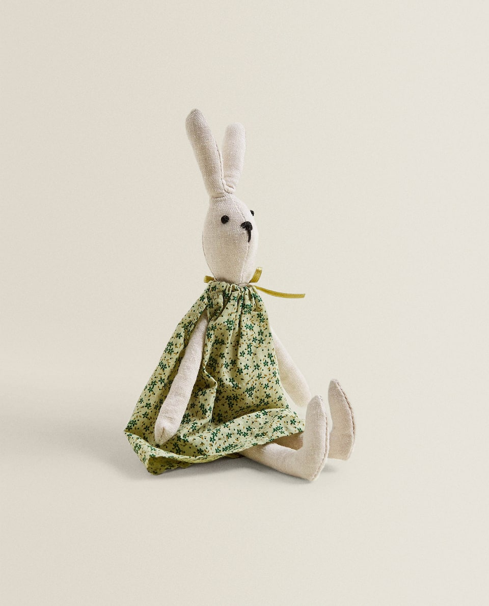 SOFT TOY BUNNY WITH BOW