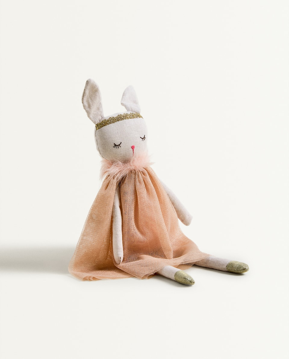 BUNNY SOFT TOY WITH CAPE