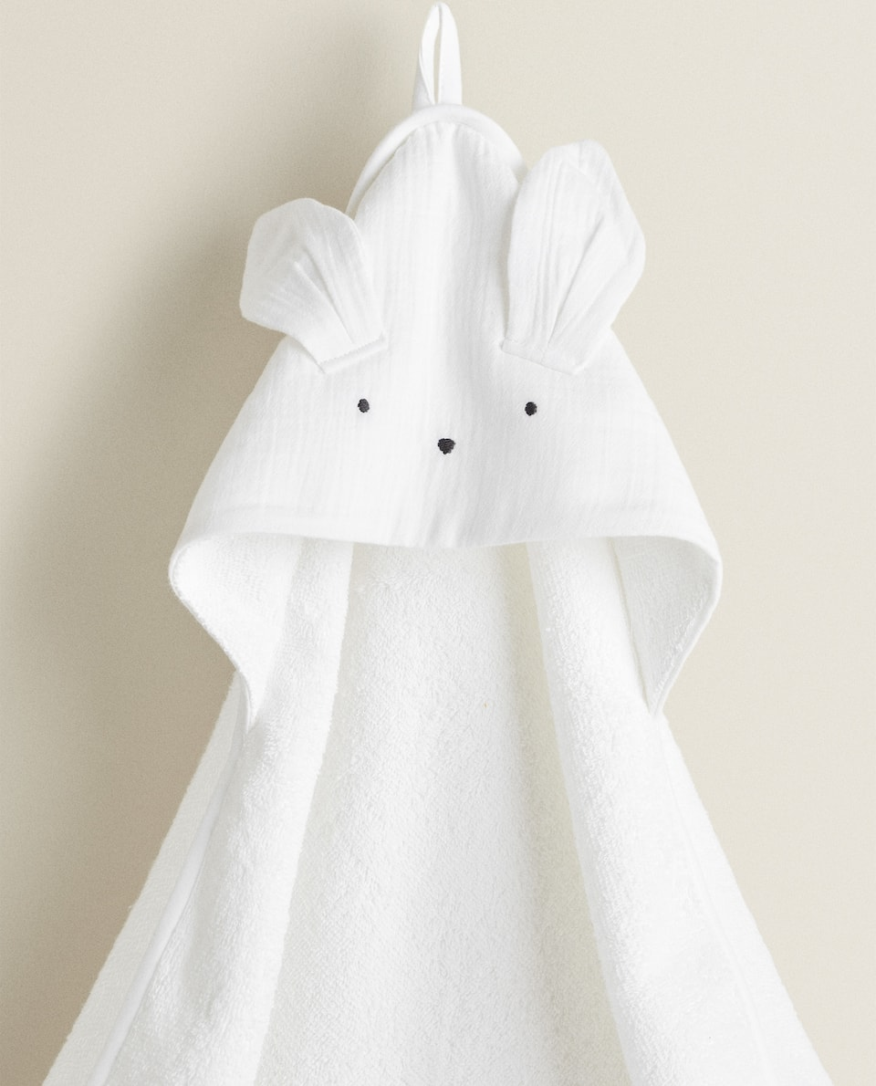 BUNNY RABBIT HOODED TOWEL