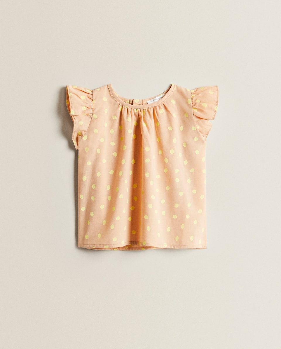 BABY DRESS WITH POLKA DOTS