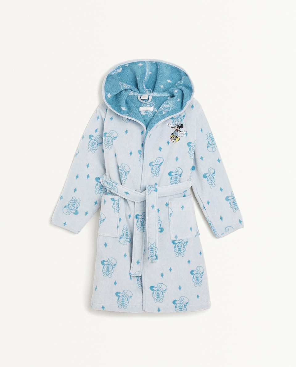 EMBROIDERED MICKEY MOUSE BATHROBE