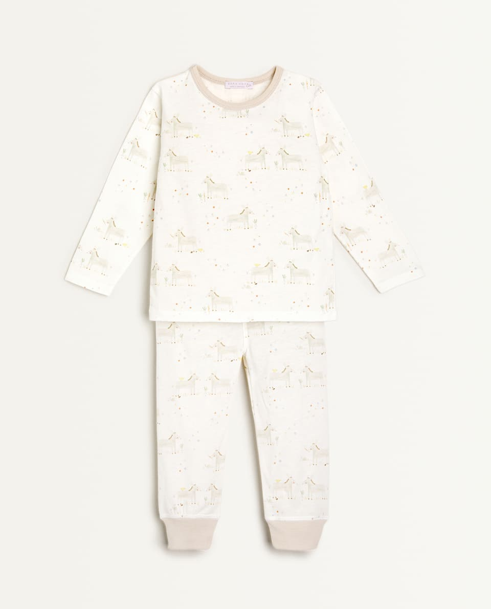 COTTON JERSEY DONKEY PYJAMAS
