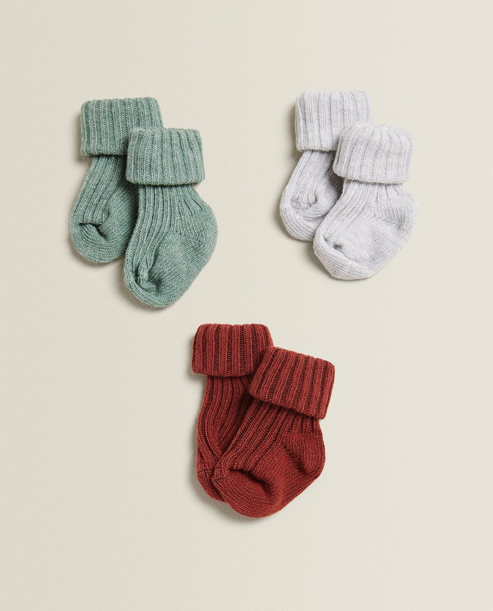 RIBBED SOCKS (SET OF 3 PAIRS)