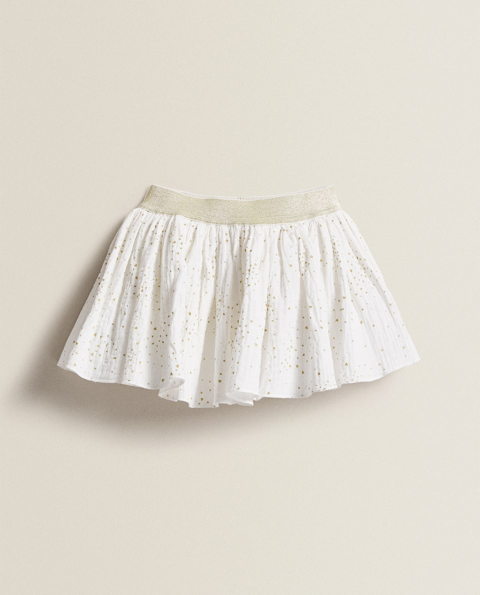 COTTON AND CHIFFON SKIRT