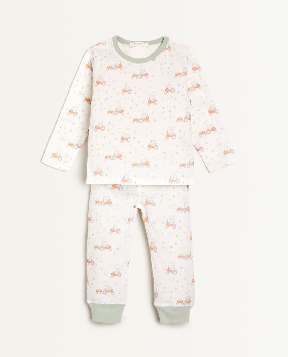 COTTON JERSEY TRACTOR PYJAMAS