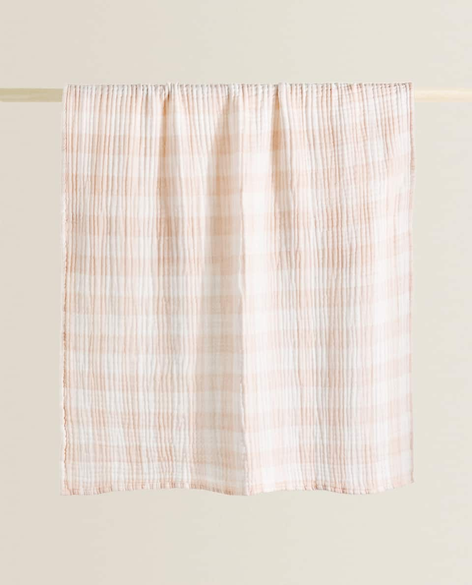 PLAID COTON GAZE