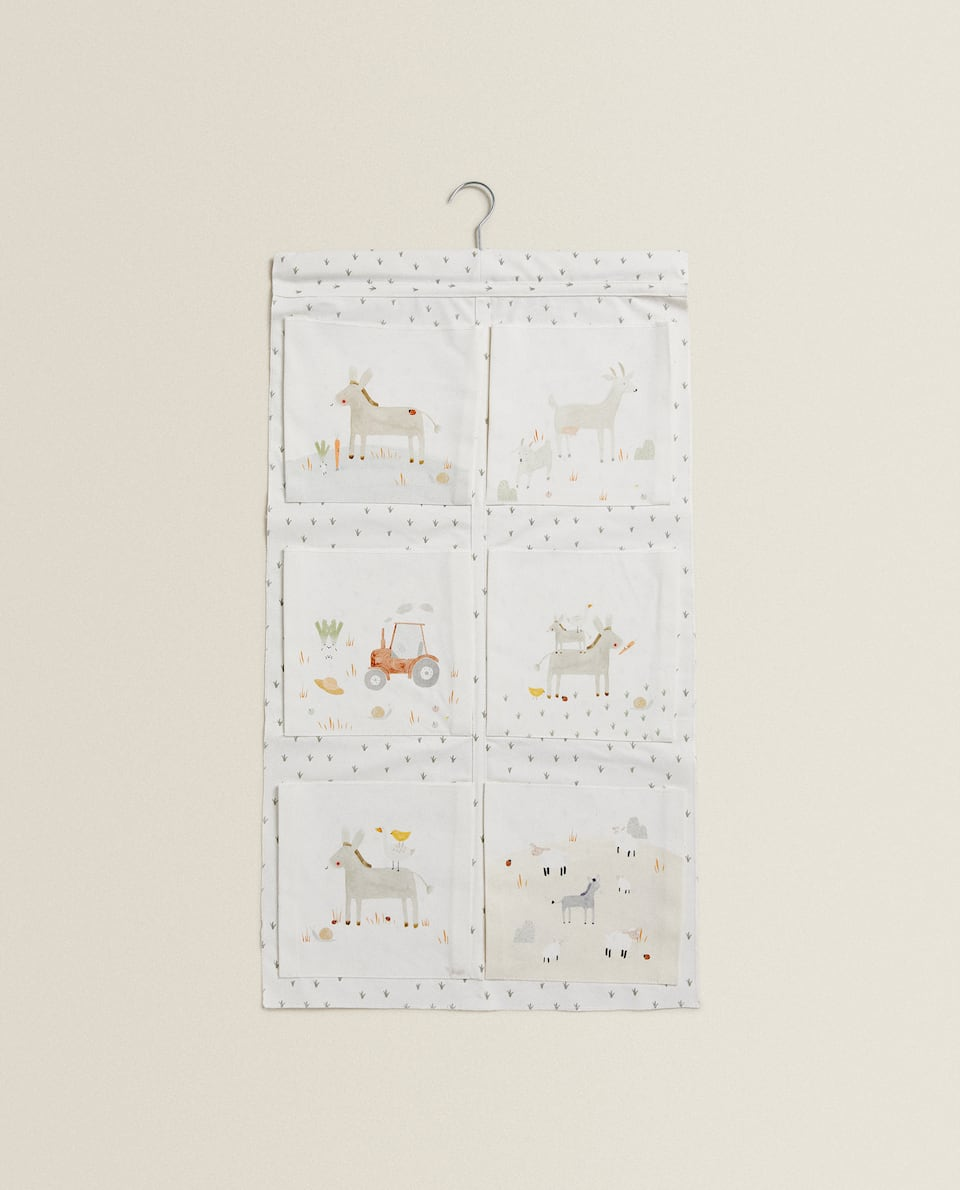 COTTON ORGANISER WITH HANGER