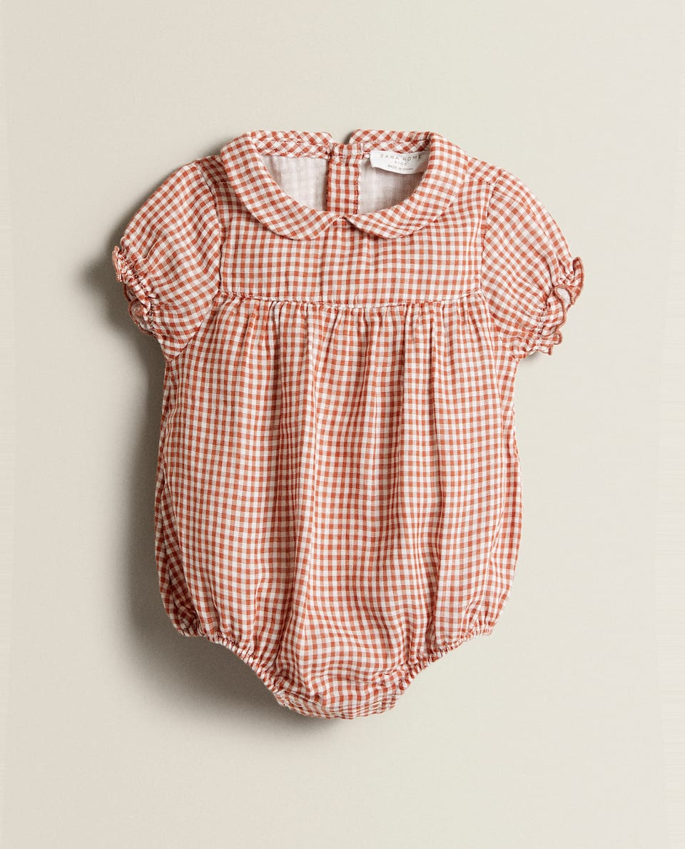 GINGHAM COTTON ROMPER