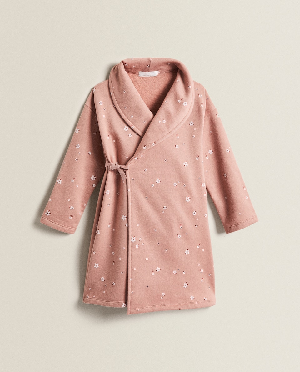 FLORAL PLUSH DRESSING GOWN