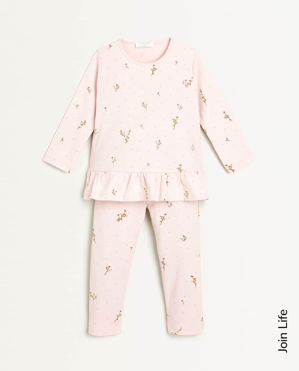 COTTON FLOWER PRINT PYJAMAS