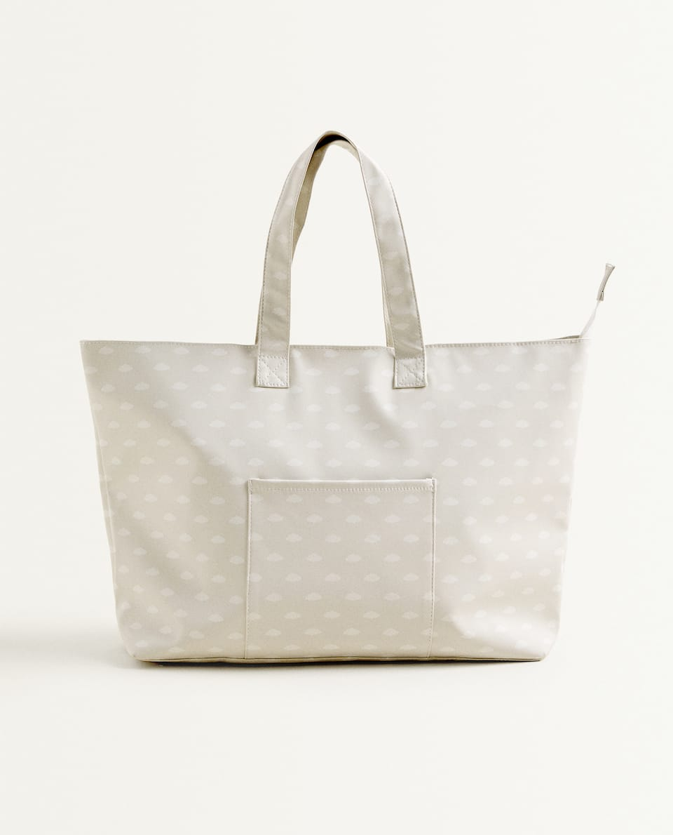 CLOUD PRINT DIAPER BAG