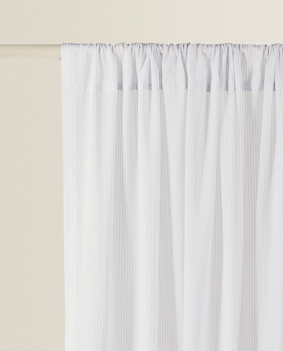 COTTON CURTAIN WITH DIE-CUT EMBROIDERY