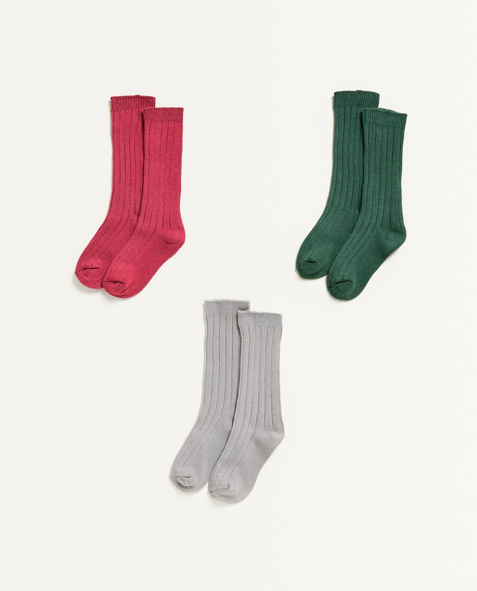 CALCETINES ALTOS (SET DE 3)