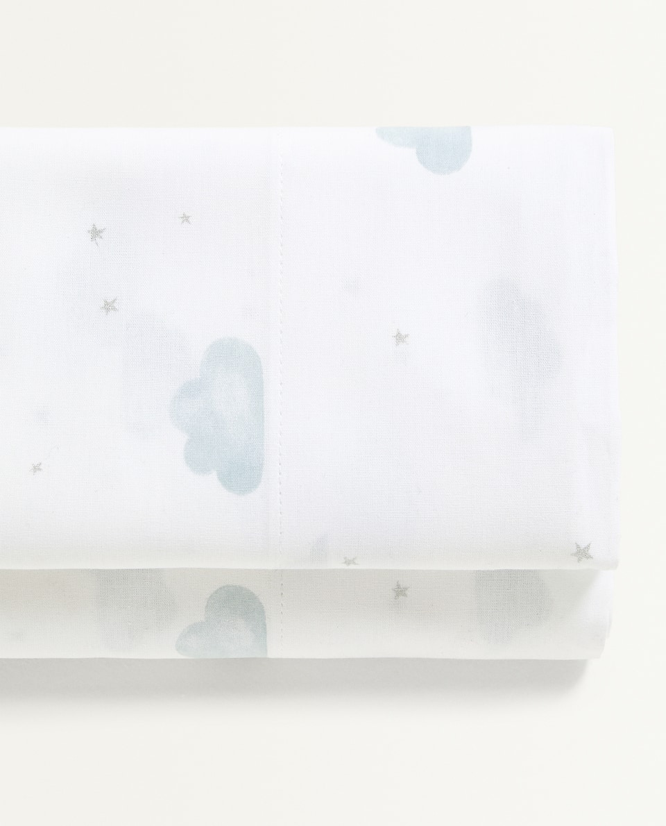 CLOUDS AND STARS FLAT SHEET